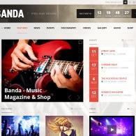 Tema Banda – Site Para Músicos e Bandas com Loja Virtual