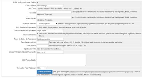 Módulo de Pagamento MercadoPago Para WHMCS