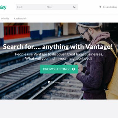 Tema Vantage - Site de Guia Comercial e Eventos