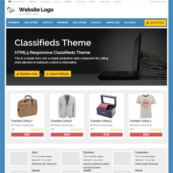 Tema Responsive Classifieds - Site Para Classificados