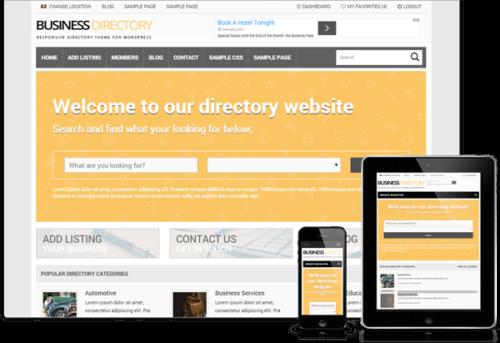 Tema Responsive Business - Site Para Diretório de Empresas