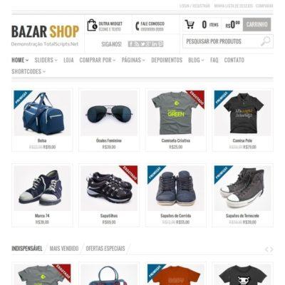 Tema Bazar - Site Para Loja Virtual