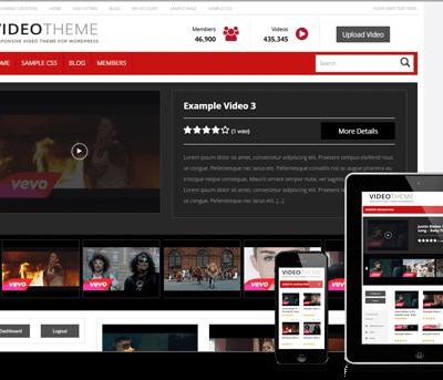 Tema Responsive Video - Site Para Portal de Vídeos