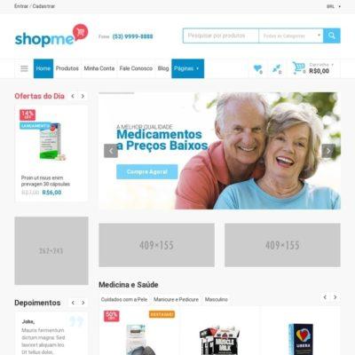 Tema Shopme - Site Para Loja Virtual